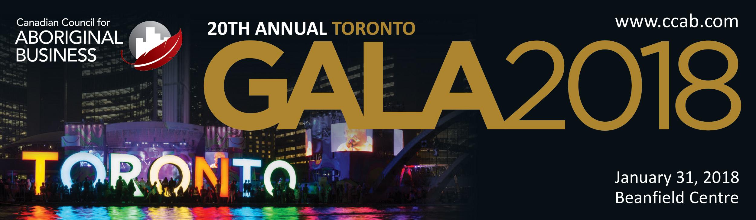 Toronto Gala 2018 - Web Banner